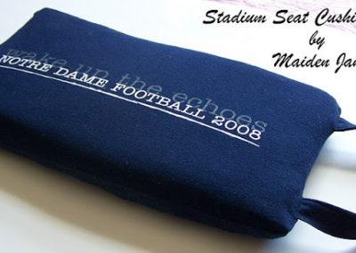 Sewing Tutorial – Upcycle a Tee Shirt or Sweatshirt Into a Stadium Cushion