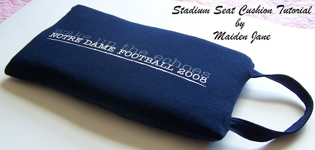 Sewing Tutorial – Upcycle a Tee Shirt or Sweatshirt Into a Stadium Cushion