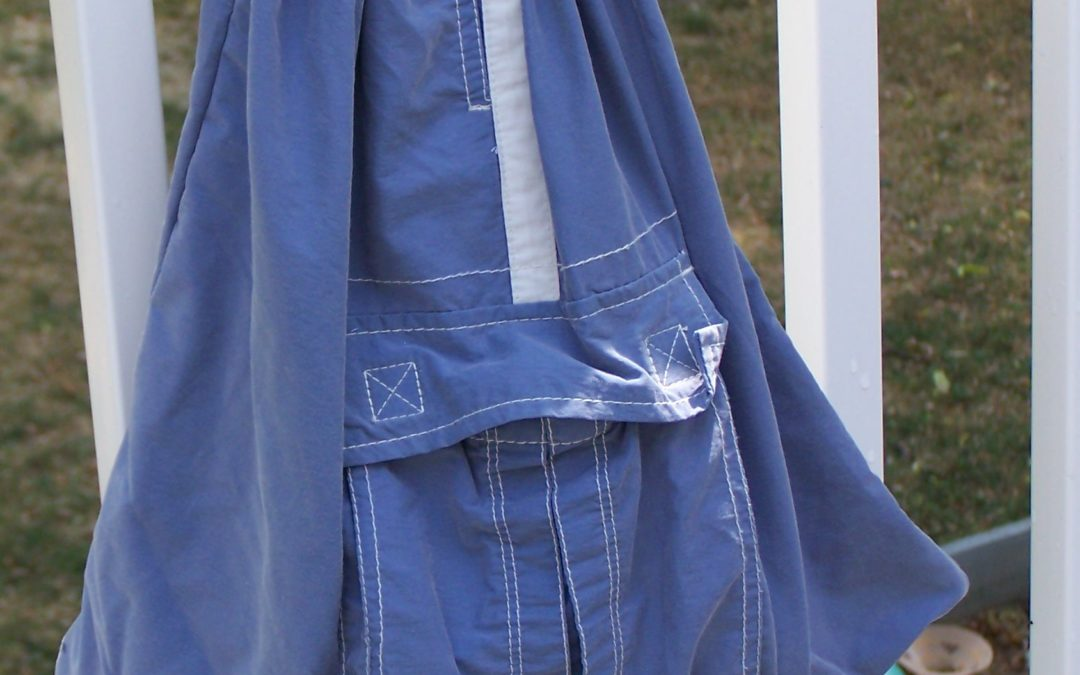 Wednesday Sewing – Swim Trunks to Drawstring Tote