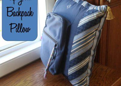 DIY Backpack Memory Pillow