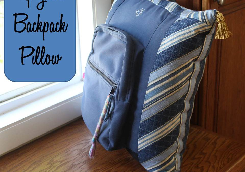 DIY Backpack Memory Pillow