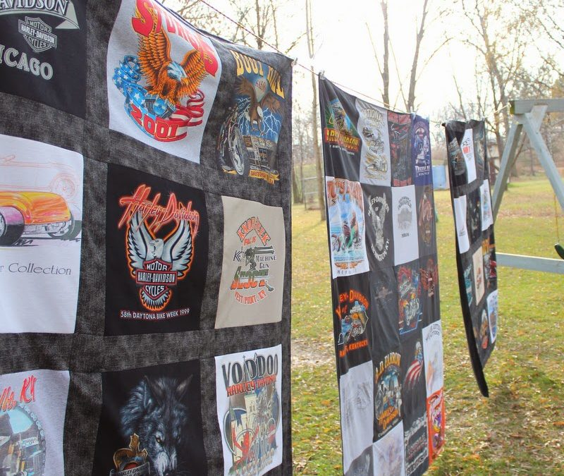 Three Harley Davidson Memory Blankets