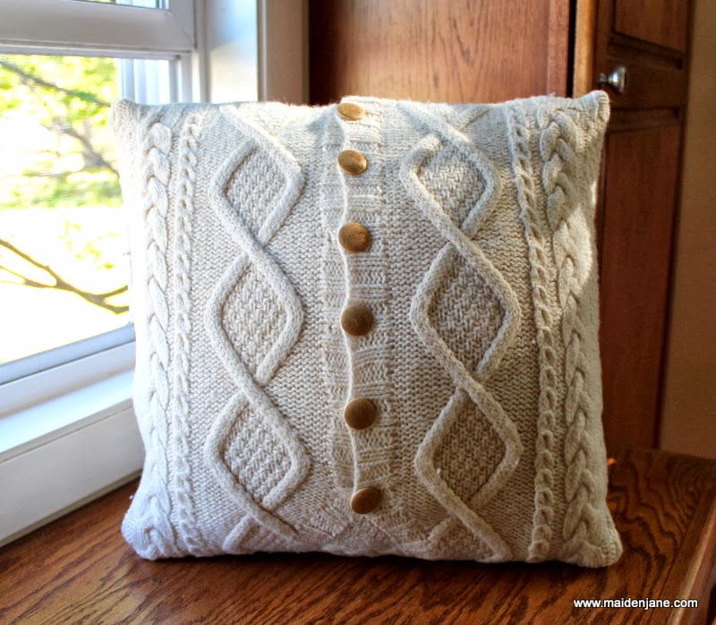 Diy Upcycled Sweater Pillow Case Maiden Jane
