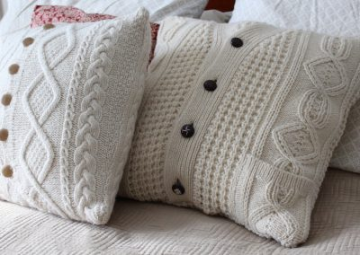DIY Upcycled Sweater Pillow Case