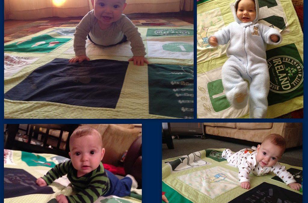 Cutie PaTutie Little Baby Boy on a T Shirt Baby Blanket