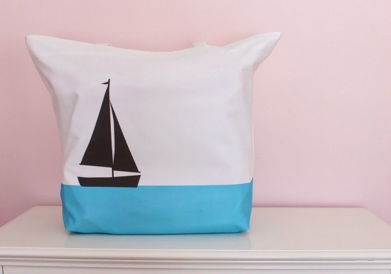 New Oversized Beach Totes with Fiona Designs Sailboat and Black Labs!