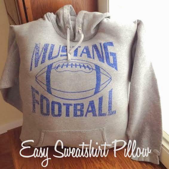 DIY Sweatshirt Pillow Tutorial