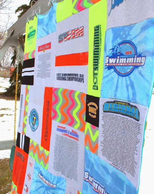 Crazy Quilt Memory Blanket with a Blast of Neon!