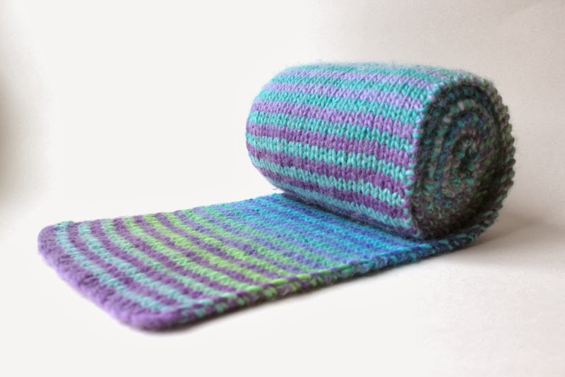 Striped Scarf in Knitpicks Chroma