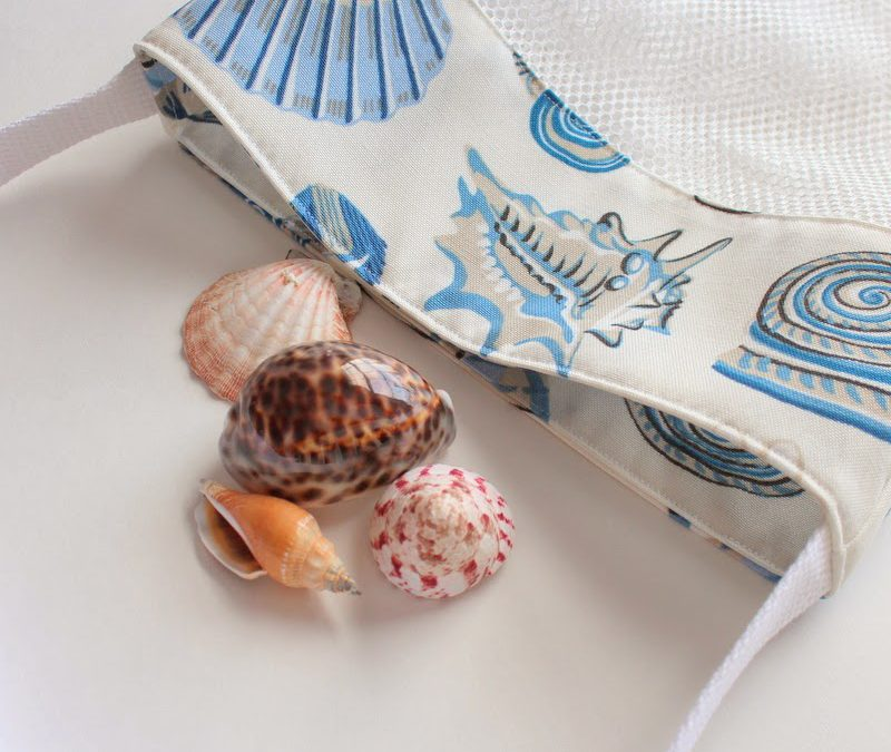 New Sea Shell Bags, Fabrics, Pillow Cases and Blankets! Oh, and a Giveaway!
