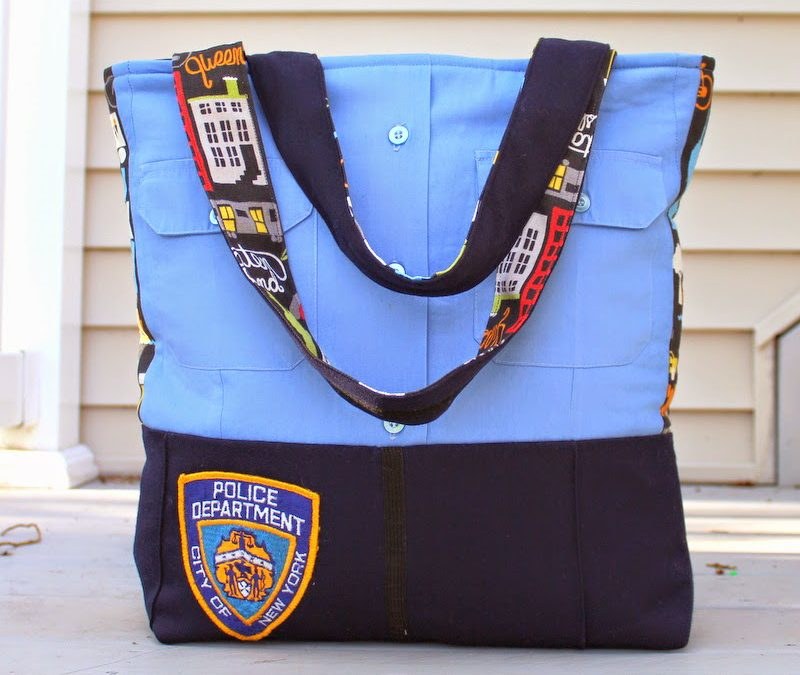 NYPD Upcyled Uniform Bag