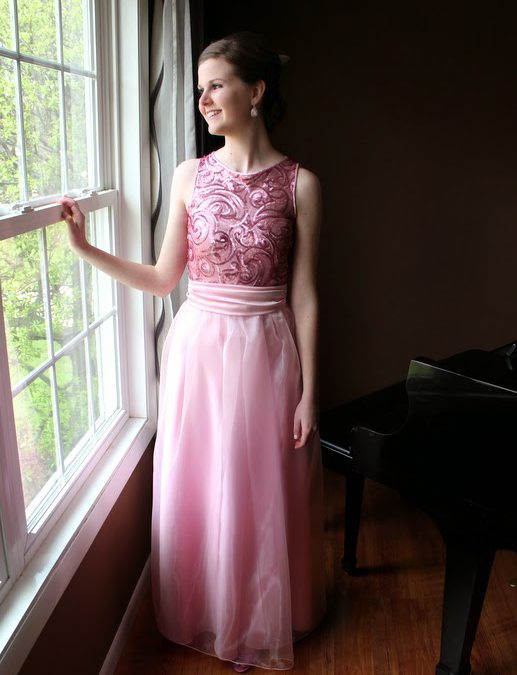 Pretty Prom Princess in Pink – or Sewing With Sequins Sam Hill!