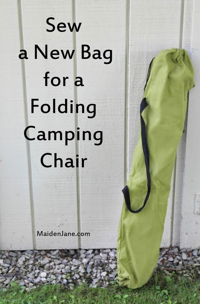 Sew A New Bag For A Folding Camping Chair Diy Tutorial Maiden Jane
