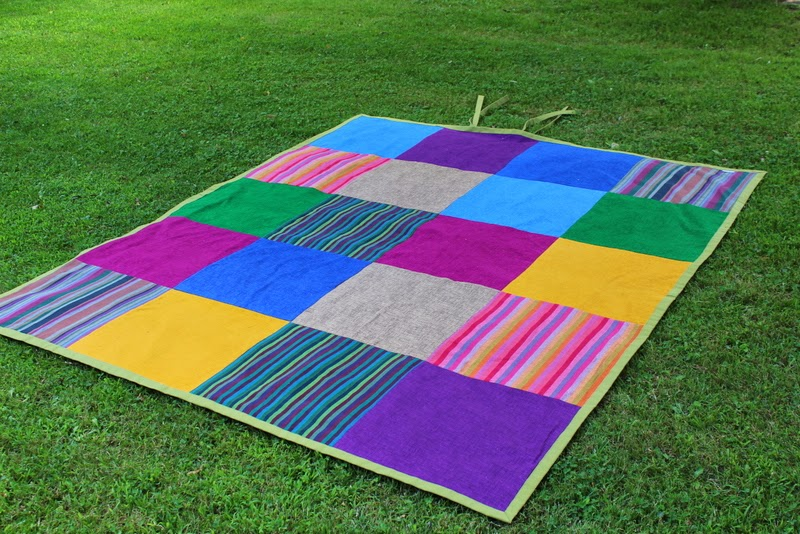 Oversized Beach Blanket in Rich Jewel Tones