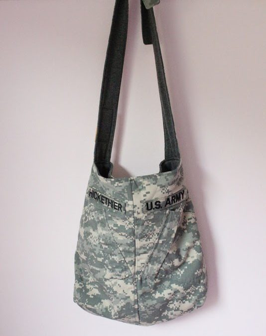 Upcycled Army Jacket Tote Bag