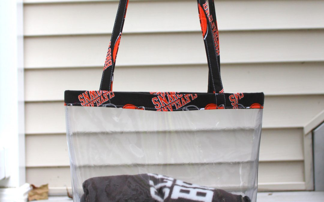 DIY NFL Clear Tote Bag