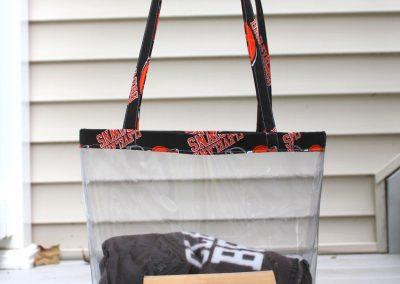 DIY NFL Clear Tote Bag