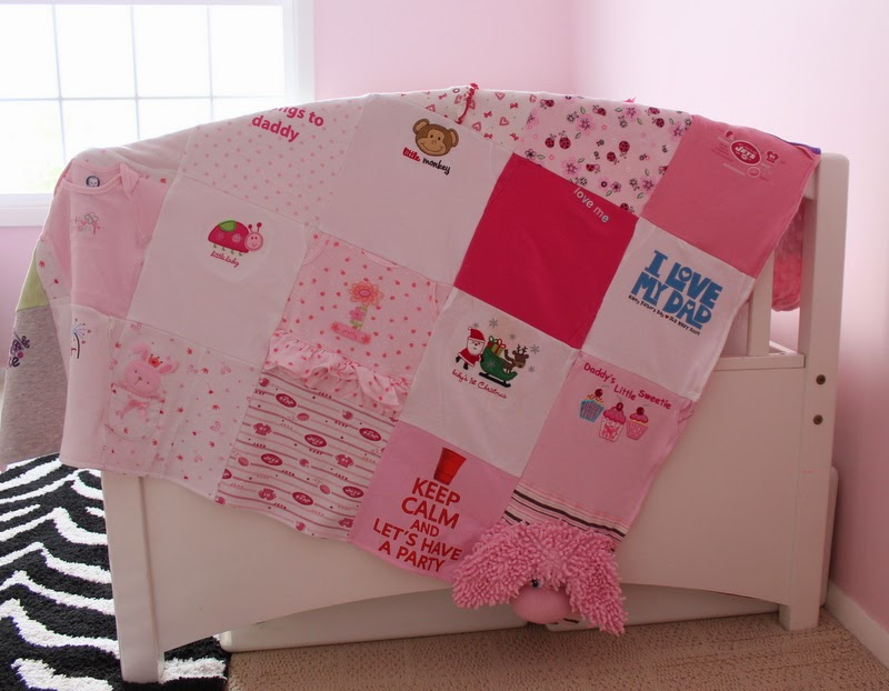 Pretty Pink and Gray Guy Baby Blankets and Memory Pillow Cases!