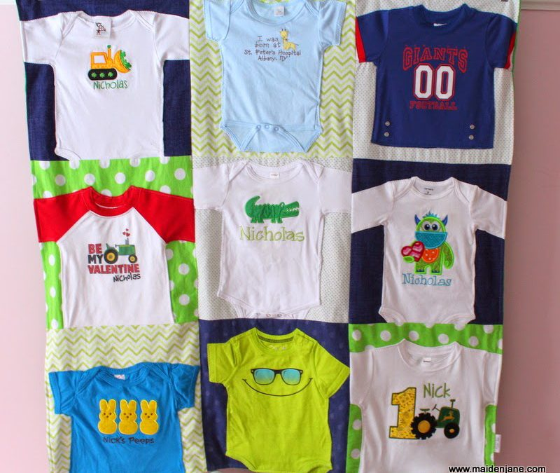 A New Nine Block Baby T Shirt Blanket