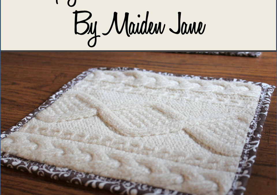 Upcycled Knit Sweater Hot Pad or Trivet DIY
