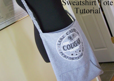 From Sweatshirt to Sweet Tote – a Tutorial
