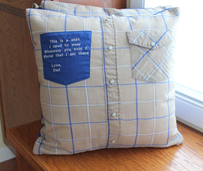 Poignant Memory Pillow with Embroidery
