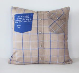 memory pillow from button down shirt