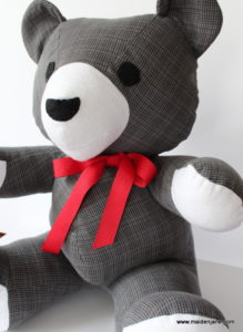 memory shirt teddy bear