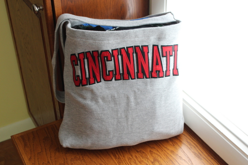 Sweatshirt Tote for the High School Grad heading to College