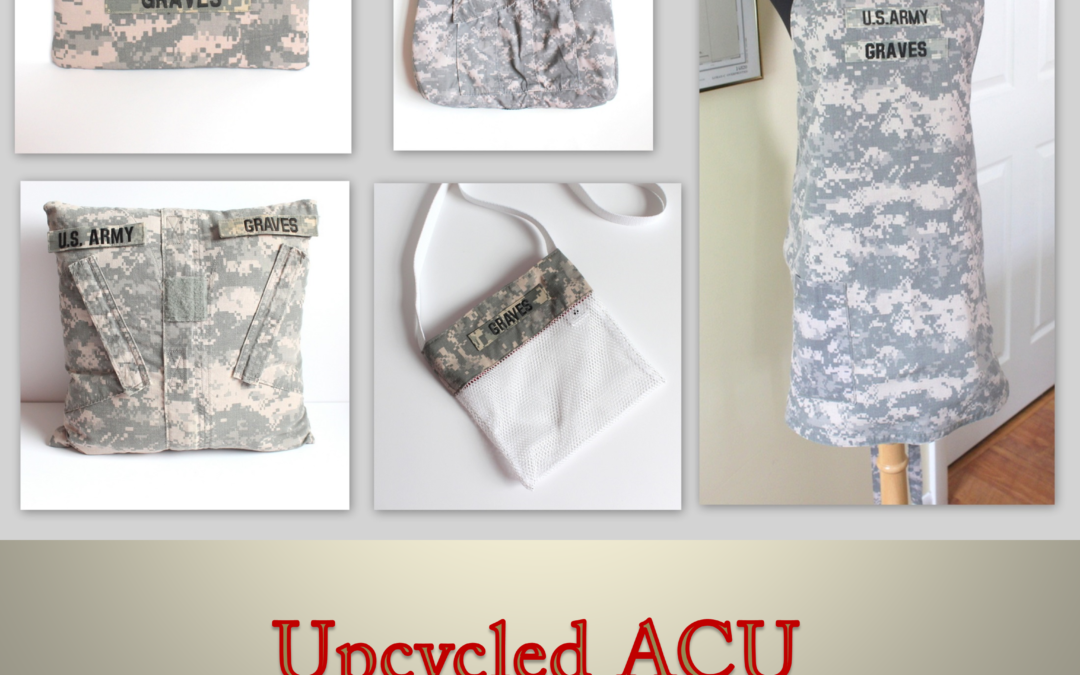 Upcycled ACU Army Combat Uniform for Retirement Celebration