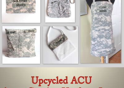 Upcycled ACU Army Combat Uniform for Retirement Celebration