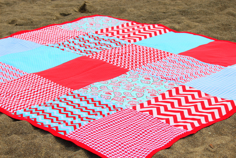 chevron picnic blanket
