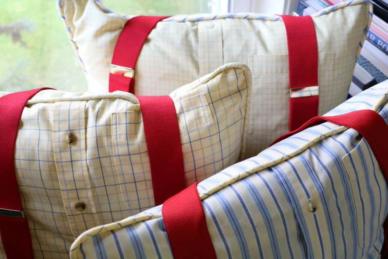 Memory Pillow with Suspenders from @MaidenJane