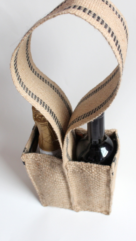 Wine Tote made from coffee sack