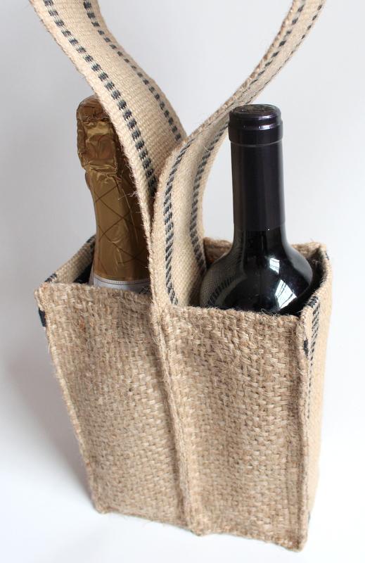 Coffee Sack Wine Tote