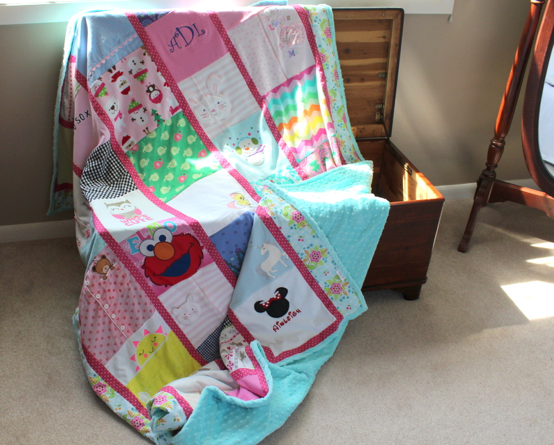 baby clothes memory blanket - gift for wife