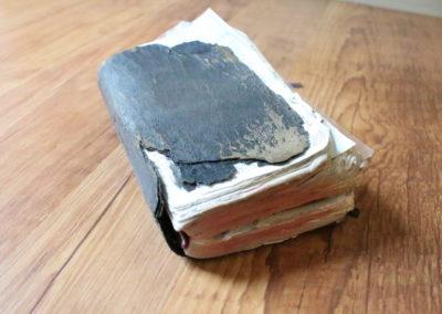Using Kraft-tex and Vinyl to Repair Prayer Book