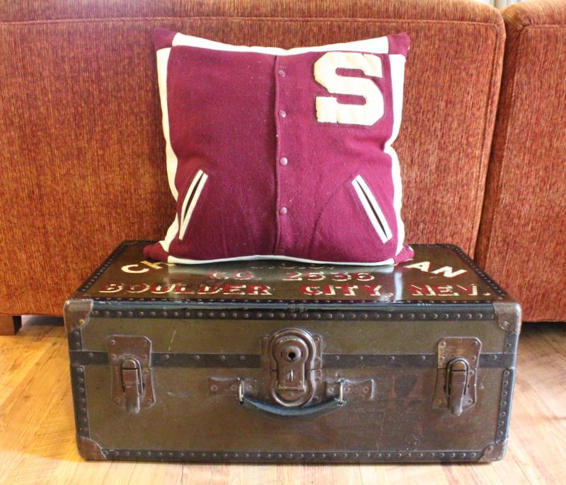 varsity jacket pillow