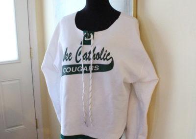 DIY Upcycled Sweatshirt to Hockey Jersey