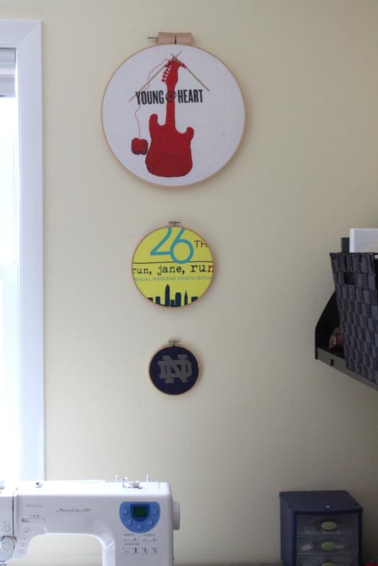 T Shirt Hoop Wall Art