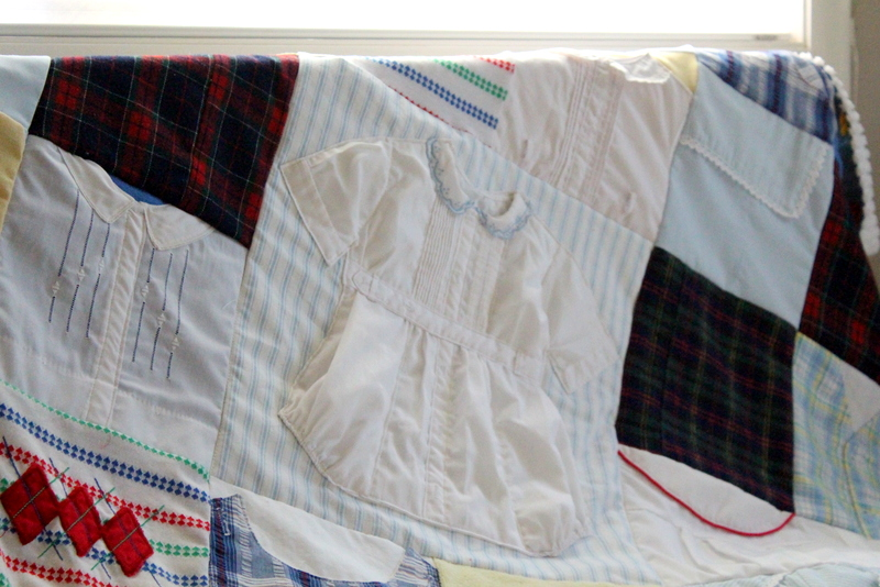 Vintage Baby Clothes Quilt