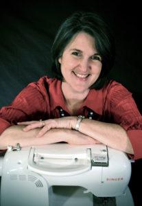 Jane Skoch with sewing machine