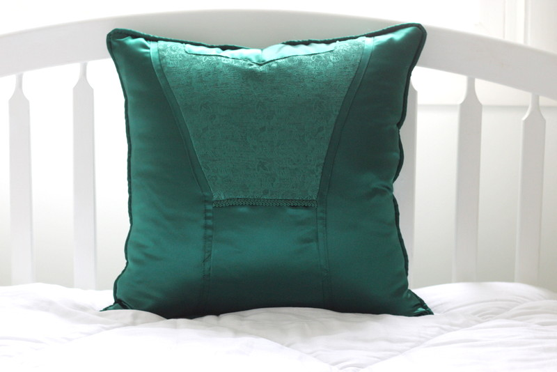 Memory Pillows Made from Bridesmaid's Dresses
