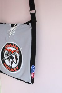 hockey jersey tote