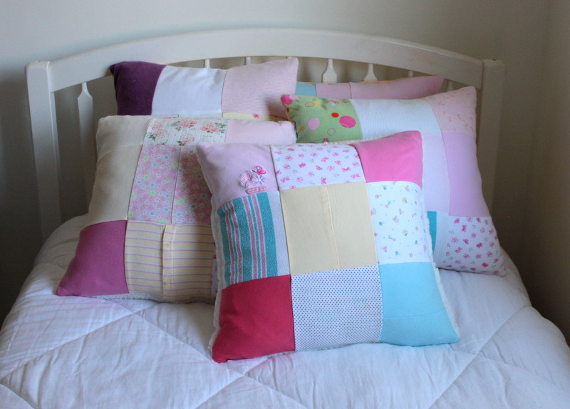Nine Block Patchwork Memory Pillow