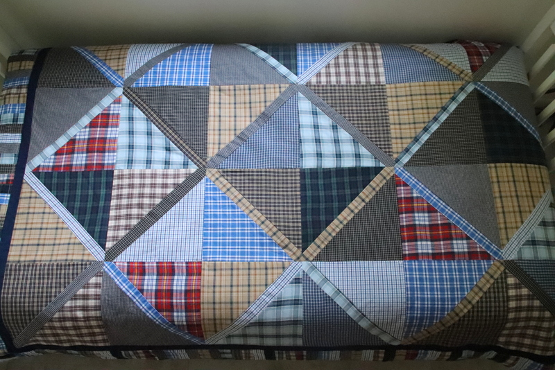 Plaid Button Down Shirt Quilt Blanket