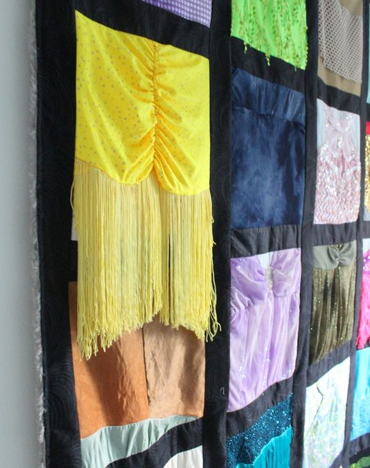 Fringe Movement – Quilt Made from Dance Costumes
