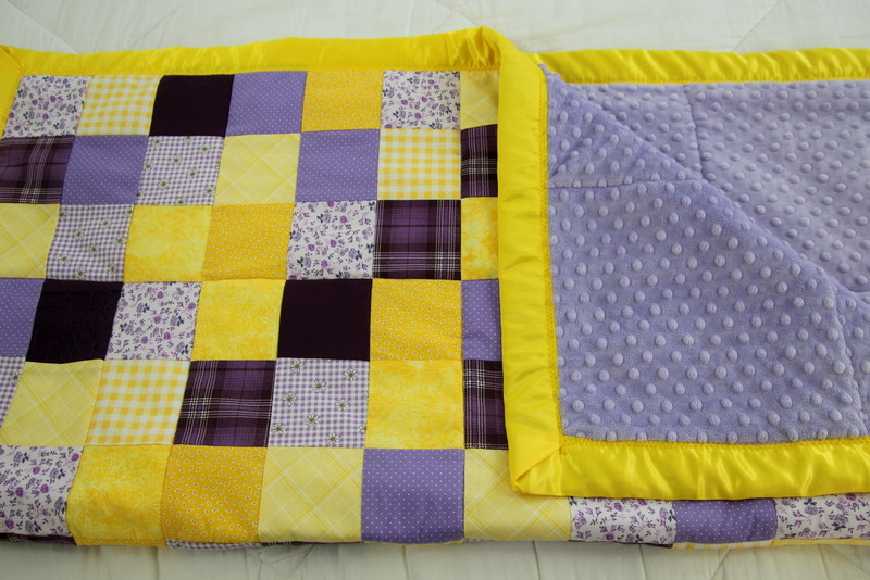 Recycled Bridesmaid's Dress Baby Quilt