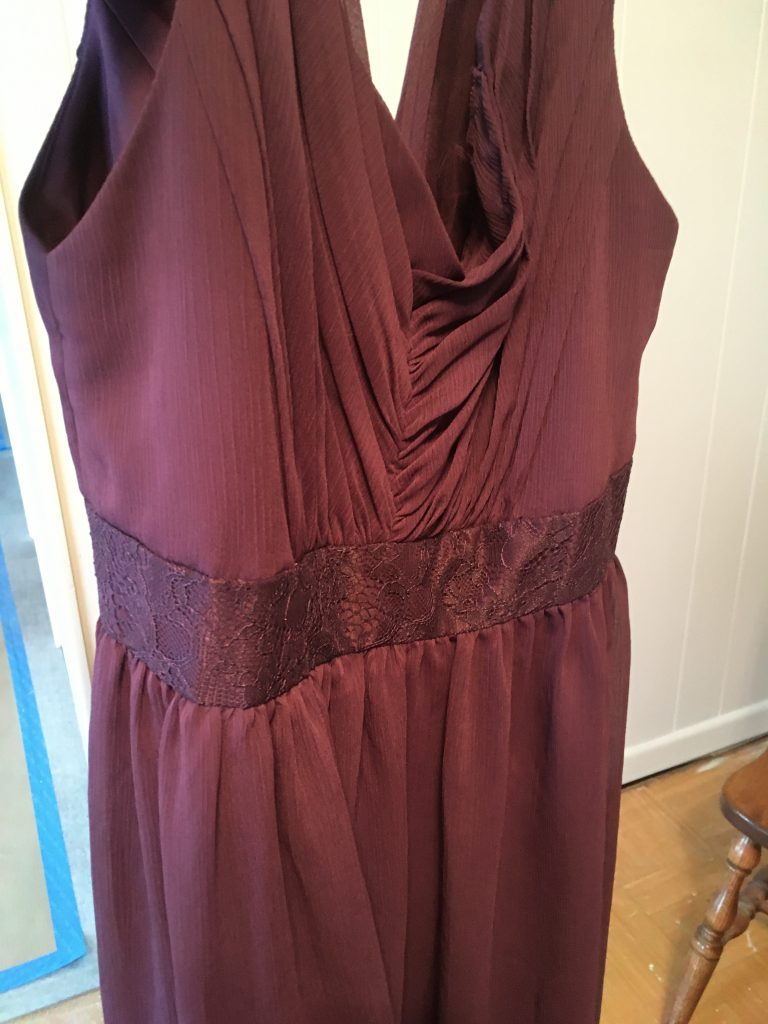 Bridesmaid's dress to be cut apart for quilt
