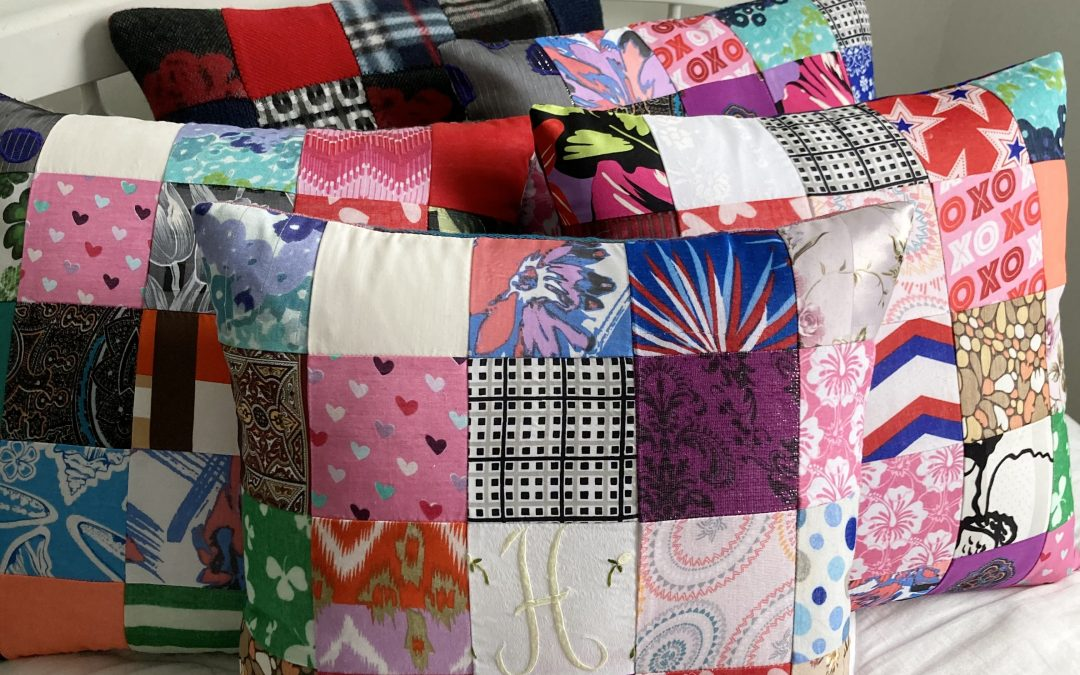 Memory Pillow from scarves